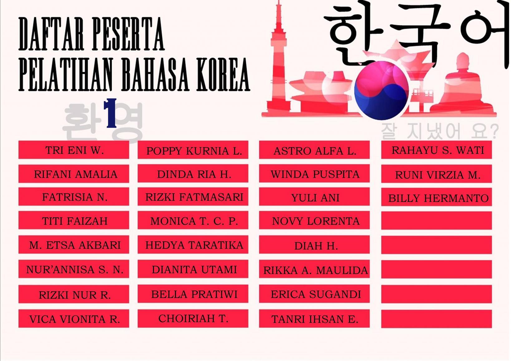 Korea UPT Bahasa 1
